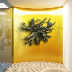 BCG radice parete oro senza persona copia
