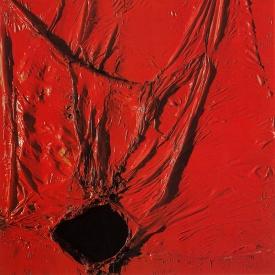 Alberto Burri, Rosso plastica, 1964 rd