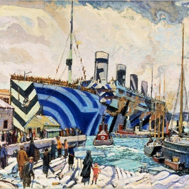 Arthur Lismer, Olympic with Returned Soldiers, 1919 (Canadian War Museum) d copia