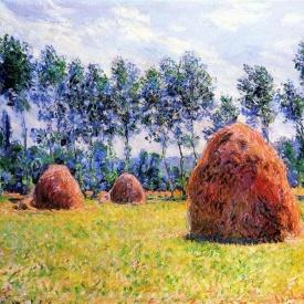 Claude Monet, Haystacks at Giverny, 1884.