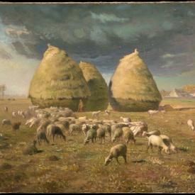 Jean-Francois Millet, Haystacks in Autumn, ca 1874, Metropolitan Museum of Art, New York