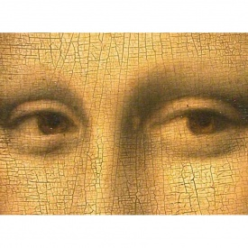Leonardo da Vinci, Mona Lisa, detail eyes rd