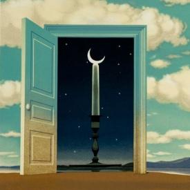 René Magritte - Une Porte S'Ouvre sur la Nuit Veloutée, 1953 d