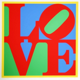 Robert Indiana, Heliotherapy Love, 1995