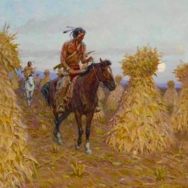 Tom Lovell White Man's Corn Tipis, 1993 copia