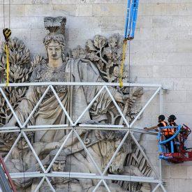 Christo, Arc de Triomphe Empaqueté, 2021